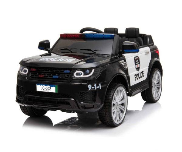 Black Ride On Police Car